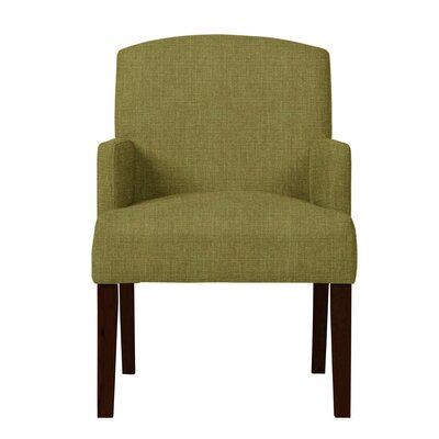 Larose Birch Arm Chair Upholstery: Green