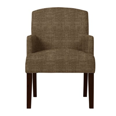 Larose Solid Back Arm Chair Upholstery: Brown