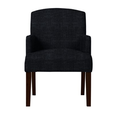Larose Solid Back Arm Chair Upholstery: Black