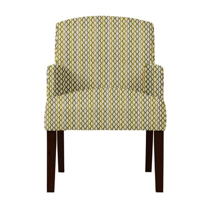 Larose Zigzag Arm Chair Upholstery: Beige/Brown
