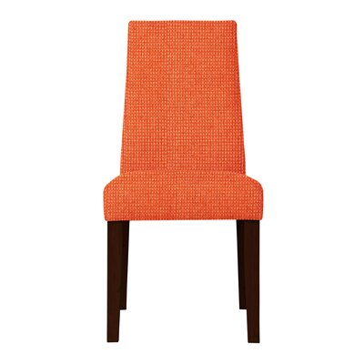 Haddonfield Hardwood Frame Side Chair Upholstery: Orange