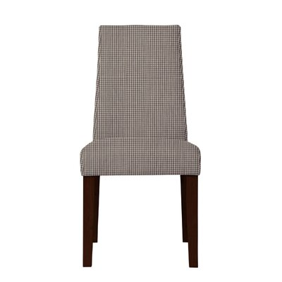Haddonfield Cotton Parsons Chair Upholstery: Dark Brown