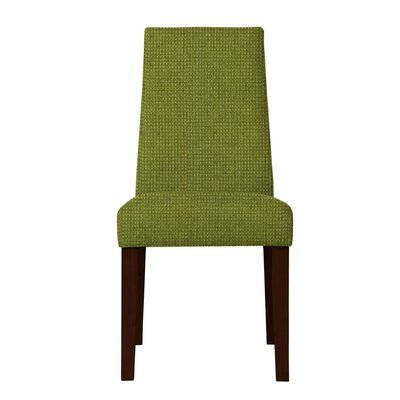Haddonfield Hardwood Frame Parsons Chair (Set of 2) Upholstery: Green