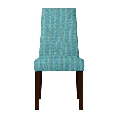 Haddonfield Hardwood Frame Side Chair Upholstery: Turquoise
