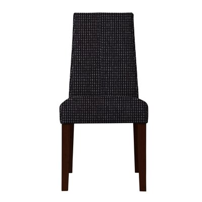 Haddonfield Hardwood Frame Side Chair Upholstery: Black