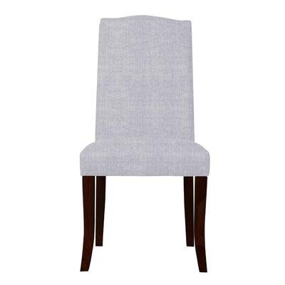 Guttenberg Wood Legs Parsons Chair (Set of 2) Upholstery: Light Gray