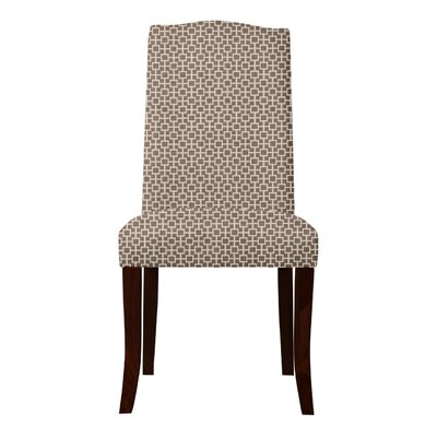 Lasseter Geometric Parsons Chair Upholstery: Brown