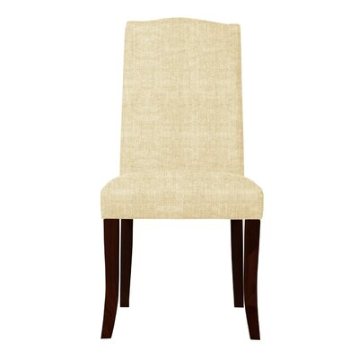 Guttenberg Wood Legs Parsons Chair (Set of 2) Upholstery: Cream
