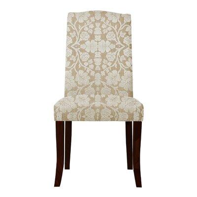 Lasseter White Floral Parsons Chair