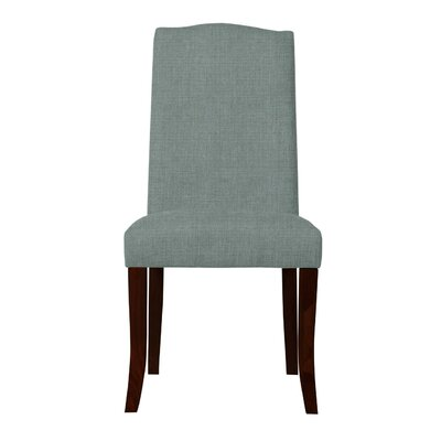 Guttenberg Wood Legs Parsons Chair (Set of 2) Upholstery: Cadet Blue