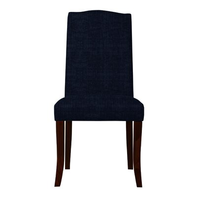 Guttenberg Wood Legs Parsons Chair Upholstery: Dark Blue