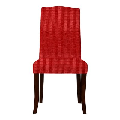 Guttenberg Solid Back Parsons Chair (Set of 2) Upholstery: Red