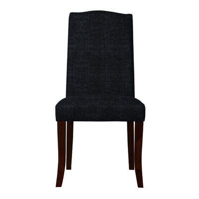 Guttenberg Upholstered Parsons Chair ( Set of 2) Upholstery: Black