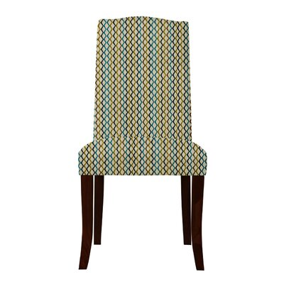 Guttenberg Mesh Parsons Chair (Set of 2) Upholstery: Olive/Blue