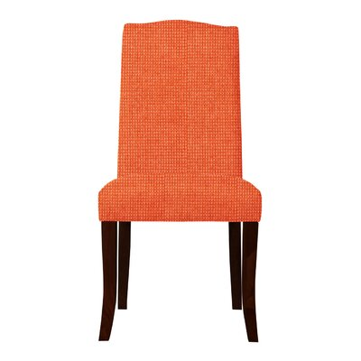 Guttenberg Solid Back Parsons Chair (Set of 2) Upholstery: Orange