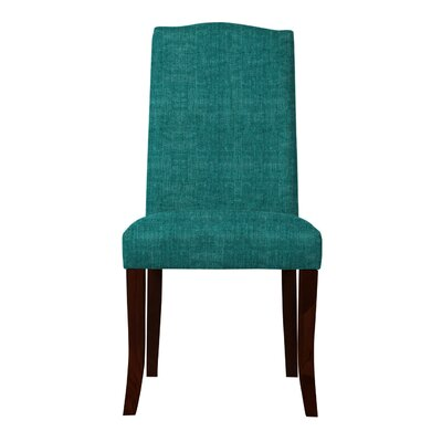 Guttenberg Wood Legs Parsons Chair (Set of 2) Upholstery: Teal