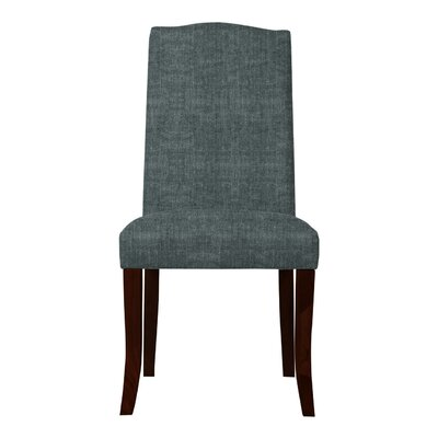 Guttenberg Wood Legs Parsons Chair (Set of 2) Upholstery: Gray