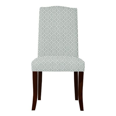 Lasseter Geometric Parsons Chair Upholstery: Green