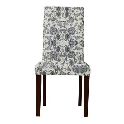 Lattimore White/Gray Upholstered Parsons Chair
