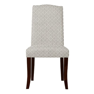 Lasseter Geometric Parsons Chair Upholstery: Gray