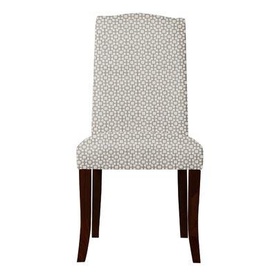 Lasseter Geometric Parsons Chair (Set of 2) Upholstery: Gray
