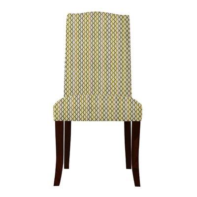 Guttenberg Mesh Parsons Chair (Set of 2) Upholstery: Yellow/Gray