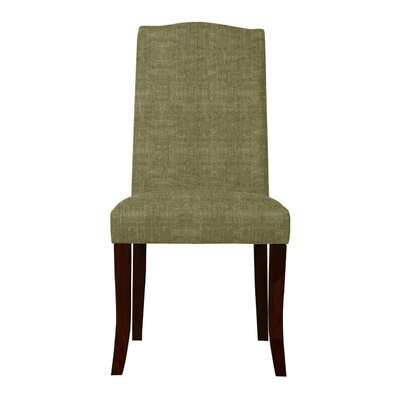 Guttenberg Wood Legs Parsons Chair (Set of 2) Upholstery: Green