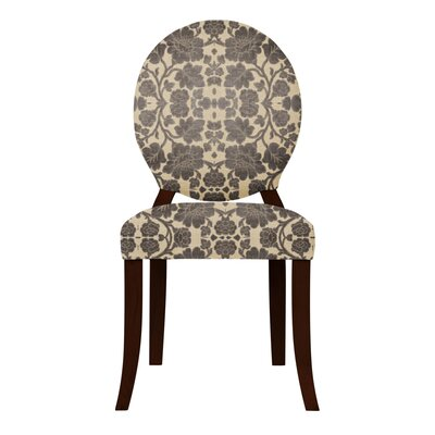 Lashley Black Flowers Side Chair