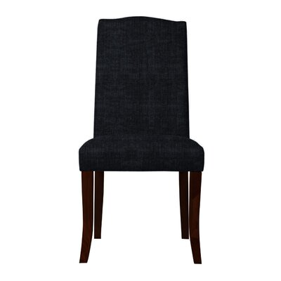 Guttenberg Wood Legs Parsons Chair (Set of 2) Upholstery: Black