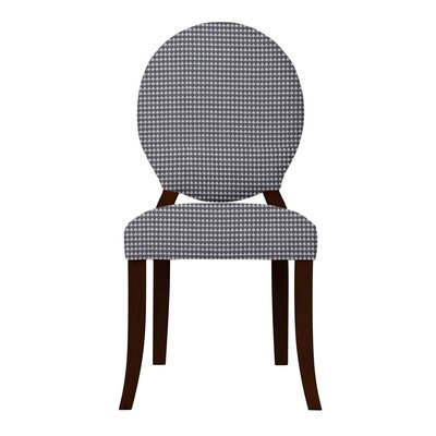 Lashley Solid Back Upholstered Side Chair (Set of 2) Upholstery: Dark Gray