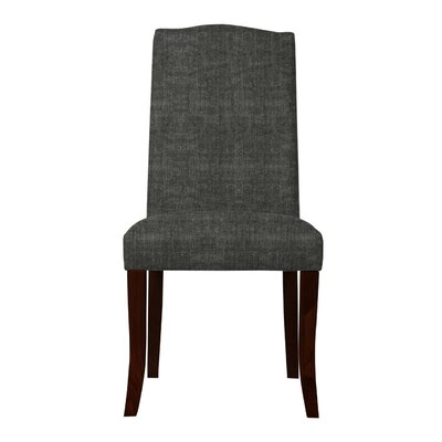 Guttenberg Wood Legs Parsons Chair Upholstery: Dark Gray