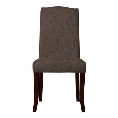 Guttenberg Solid Back Upholstered Parsons Chair (Set of 2) Upholstery: Brown