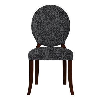 Lashley Oval Back Side Chair Upholstery: Black