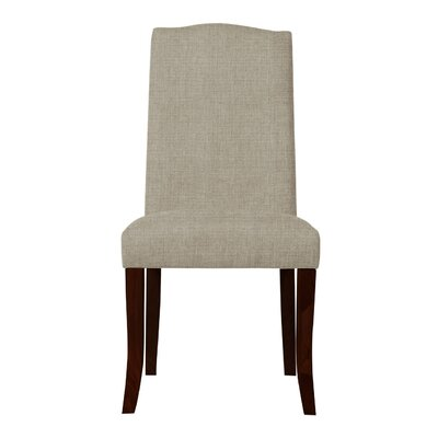 Guttenberg Wood Legs Parsons Chair Upholstery: Light Gray
