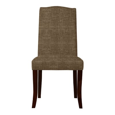Guttenberg Wood Legs Parsons Chair Upholstery: Brown