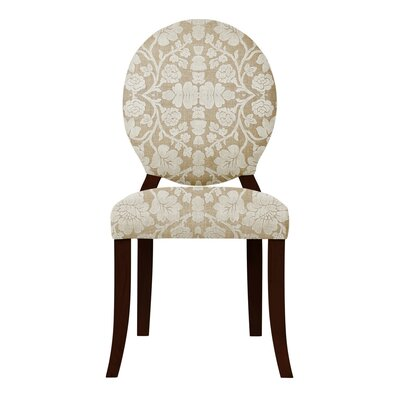 Lashley White Flowers Side Chair
