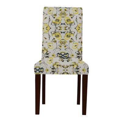 Beachwood Yellow Flowers Parsons Chair (Set of 2)