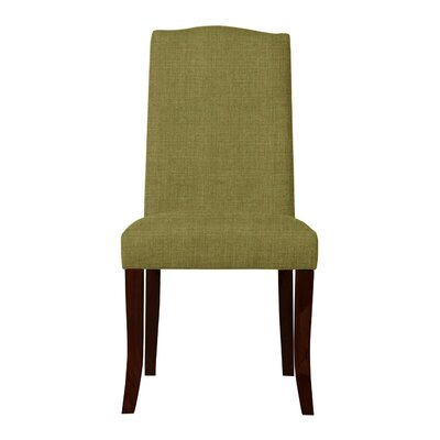 Guttenberg Wood Legs Parsons Chair (Set of 2) Upholstery: Olive