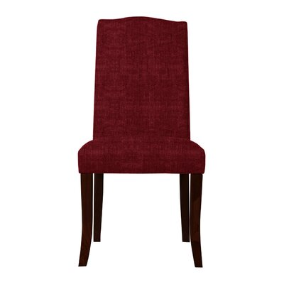 Guttenberg Wood Legs Parsons Chair Upholstery: Red