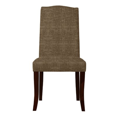Guttenberg Upholstered Parsons Chair ( Set of 2) Upholstery: Brown