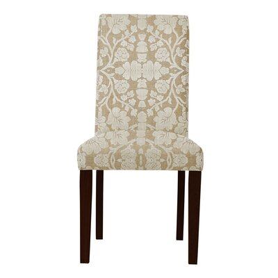 Lattimore White/Brown Upholstered Parsons Chair