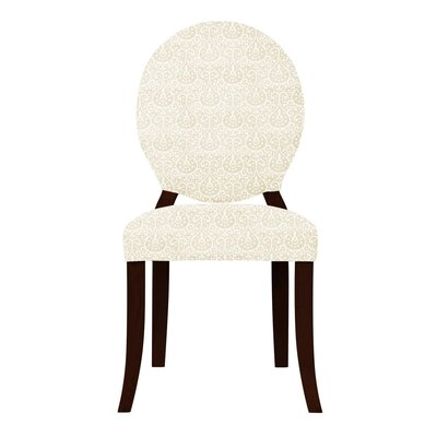 Lashley Oval Back Side Chair Upholstery: Cream