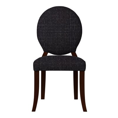 Lashley Wood Legs Side Chair Upholstery: Black