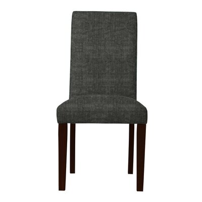 Beachwood Solid Back Parsons Chair (Set of 2) Upholstery: Dark Gray