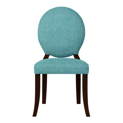 Lashley Wood Legs Side Chair Upholstery: Light Blue