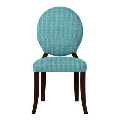 Lashley Wood Legs Side Chair Upholstery: Light Blue