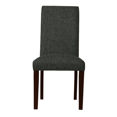 Beachwood Solid Upholstered Parsons Chair (Set of 2) Upholstery: Black