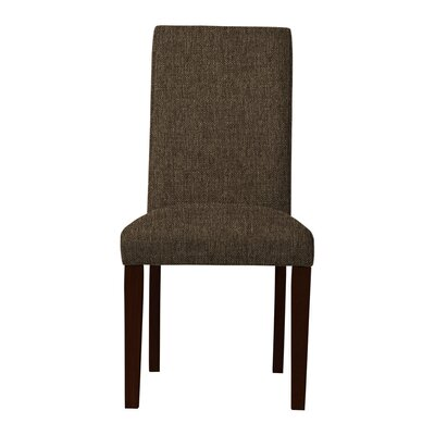 Beachwood Solid Upholstered Parsons Chair (Set of 2) Upholstery: Brown