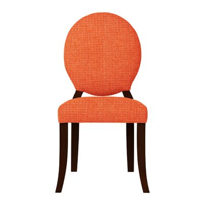 Lashley Wood Legs Side Chair Upholstery: Orange