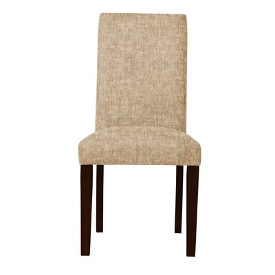 Beachwood Upholstered Parsons Chair Upholstery: Beige